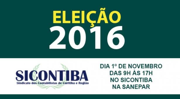 Atenção, associados ao Sicontiba! Dia 1º de novembro haverá eleição no sindicato para a gestão 2017 a 2019