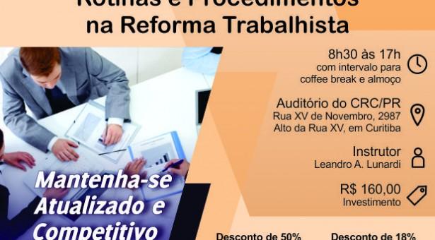 Curso 11/Dezembro: Auditoria Trabalhista em Departamento Pessoal: Rotinas e Procedimentos na Reforma Trabalhista – Vale 7 pontos EPC