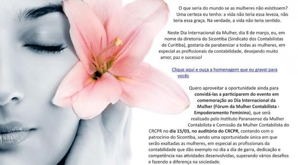 8 de março – Dia Internacional da Mulher e Convite Especial