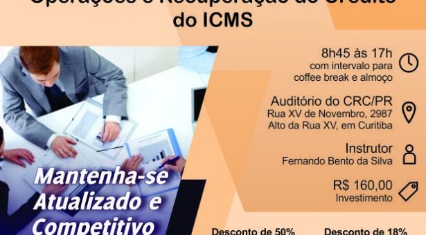 Curso 30/Agosto: Ativo Imobilizado – Operações e Recuperação do Crédito do ICMS