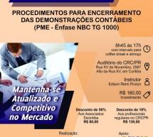 Curso 16/Outubro: Procedimentos para Encerramento das Demonstrações Contábeis (PME – ênfase NBC TG 1000) – Vale 7 pontos EPC