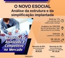 Curso 30/Outubro: O NOVO ESOCIAL – Análise da estrutura e da simplificação implantada – Vale 7 pontos EPC