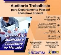 Curso 05/Novembro: Auditoria Trabalhista para Departamento Pessoal – Foco no novo eSocial – Vale 7 pontos EPC
