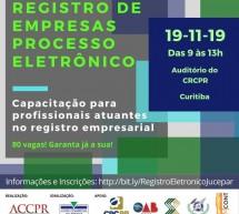 Evento 19/11 no CRCPR – Registro de Empresas Processo Eletrônico