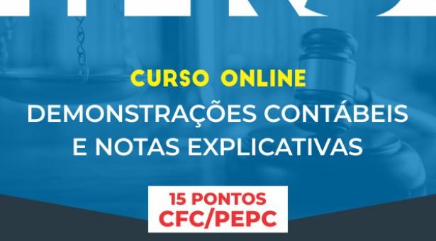 Curso Online – IFRS – Demonstrações Contábeis e Notas Explicativas – Vale 15 pontos no programa EPC