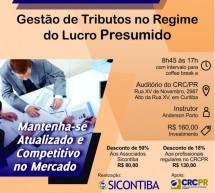 Curso 17/Janeiro: Gestão de Tributos no regime do Lucro Presumido – Vale 7 pontos no programa EPC