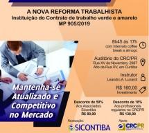 Curso 07/Fevereiro: A Nova Reforma Trabalhista e Instituição do Contrato de trabalho verde e amarelo – MP 905/2019
