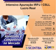 Curso 12/Março: Intensivo Apuração IRPJ / CSLL Lucro Real