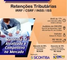 Curso 31/Janeiro: Retenções Tributárias: IRRF / CSRF / INSS / ISS – Vale 7 pontos no programa EPC