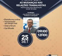 Curso 25 de Setembro com desconto: AS MUDANÇAS NAS RELAÇÕES TRABALHISTASprovocadas pela revocação da MP 927/2020