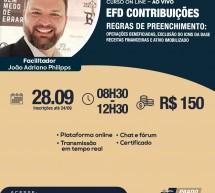 ADIADO – Curso 28 de Setembro com desconto: EFD CONTRIBUIÇÕES – REGRAS DE PREENCHIMENTO