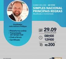 Curso 29 de Setembro com desconto: SIMPLES NACIONAL – PRINCIPAIS REGRAS – Atualizado e comentado