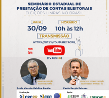 Seminário Estadual de Prestação de Contas Eleitorais – 30/09 (gratuito e 2 pontos no programa EPC)