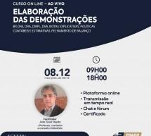 Curso on-line 08 de dezembro ao vivo: ELABORAÇÃO DAS DEMONSTRAÇÕES – Vale 8 pontos no programa EPC