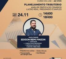 Curso on-line 24 de novembro AO VIVO: PLANEJAMENTO TRIBUTÁRIO – Análise prática de cenários