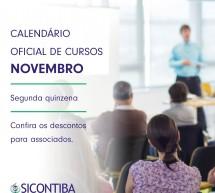 Agenda 2ª quinzena de Novembro – CURSOS on-line AO VIVO – Garanta já a sua vaga!