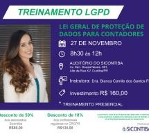Treinamento PRESENCIAL de LGPD para Contadores – 27 de Novembro – Vagas Limitadas!