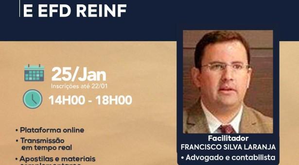 Retenções Federais DIRF e EFD REINF – Curso on-line 25 de janeiro ao vivo a 80 reais