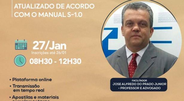 Curso on-line 27 de janeiro ao vivo a R$ 80,00: NOVO e-SOCIAL SIMPLIFICADO – Atualizado de acordo com o Manual S-1.0