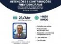 Curso pontuado PEPC – Retenções e Contribuições Previdenciárias – On-line 23 de abril ao vivo – R$ 90,00