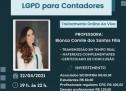 LGPD para Contadores – Treinamento ON-LINE ao vivo – 22 de abril – Inscrições a partir de R$ 60,00