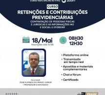 Curso pontuado PEPC – Retenções e Contribuições Previdenciárias – On-line 18 de maio ao vivo – R$ 90,00
