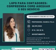 Curso 28 de setembro – LGPD para CONTADORES – Compreenda como adequar o seu negócio – on-line e ao vivo – INSCREVA-SE!