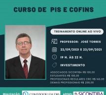 Curso de PIS e COFINS CUMULATIVOS e NÃO-CUMULATIVOS – on-line e ao vivo – 22 e 23 de setembro
