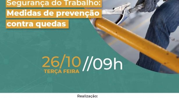 Nova NR 18 – Segurança do Trabalho – Medidas de Prevenção contra quedas   Evento on-line 26 de outubro    INSCREVA-SE gratuitamente
